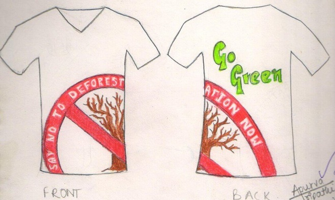 Design a t-shirt on the topic of save plants.